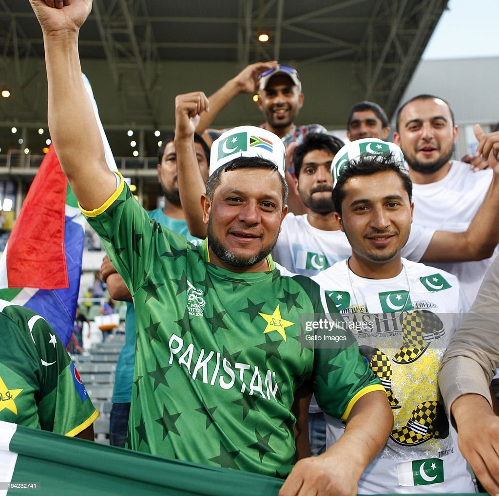 Pakistan fans during the 4th Momentum One Day International match