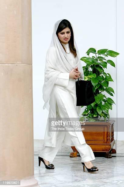 Pakistan Foreign minister Hina Rabbani Khar at the Hyderabad house in New Delhi