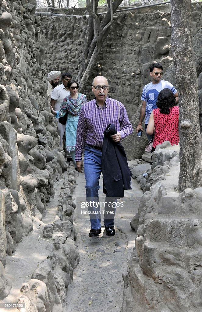 Pakistan High Commissioner Abdul Basit visits Rock Garden on May 10 2016 in Chandigarh India On Monday Pakistan high commissioner said Pakistan was...