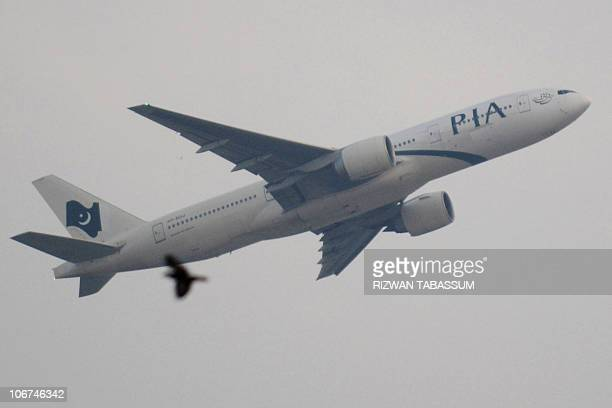 A Pakistan International Airlines Boeing 777 aircraft takes off from Karachi airport on November 11 2010 Ailing state carrier Pakistan International...