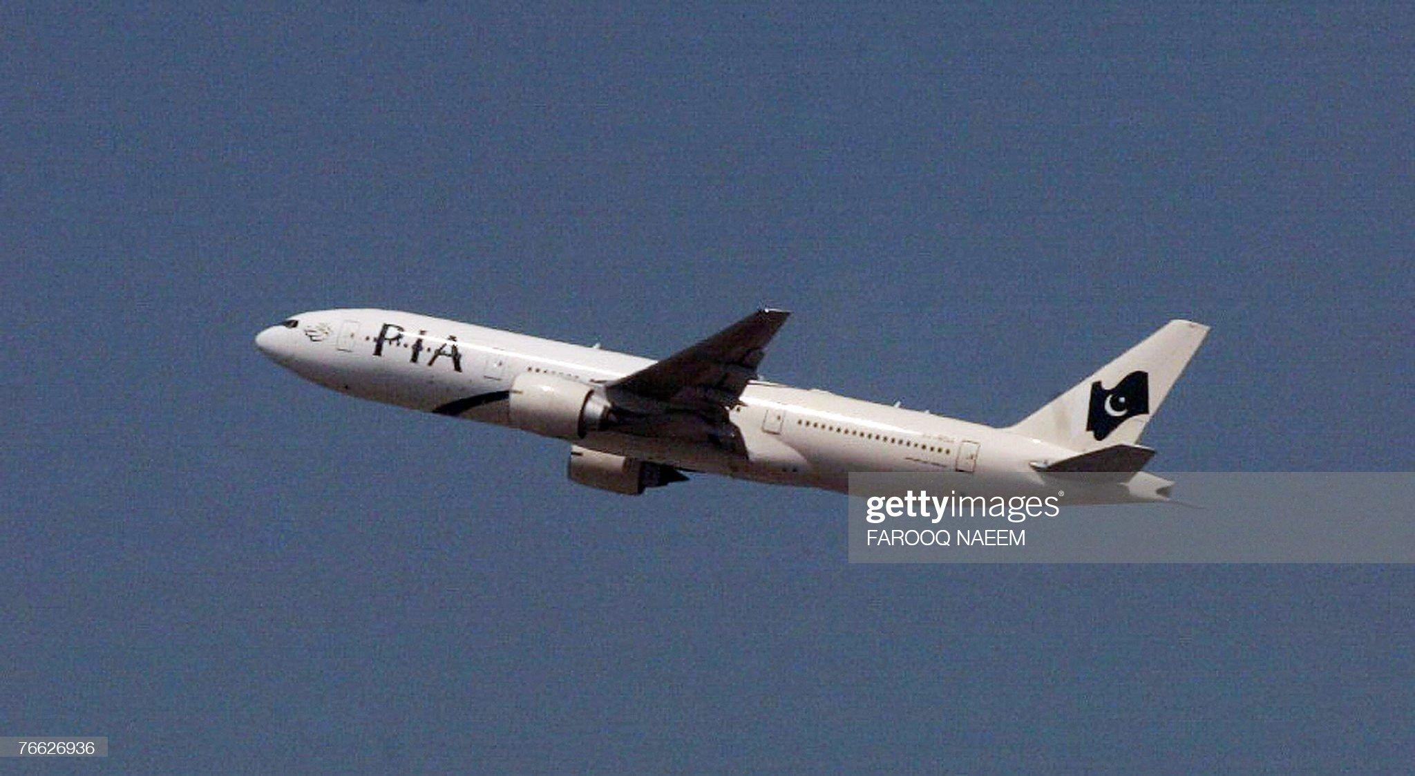 A Pakistan International Airlines plane, : News Photo