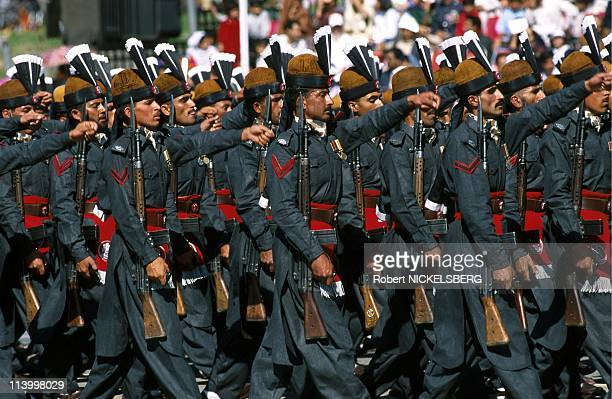 Pakistan National Day In Islamabad, Pakistan On March 23, 1998-Pakistan army frontier corps.