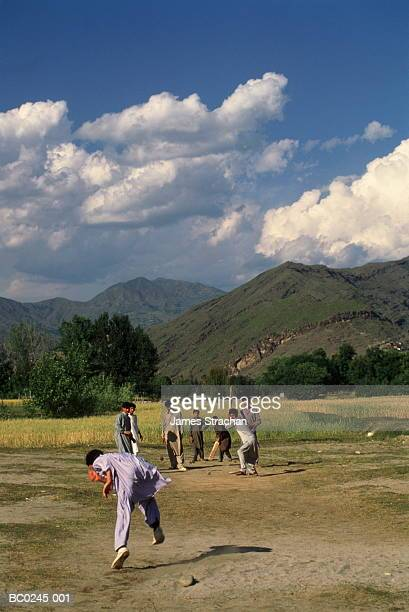 pakistan, north west frontier province, swat valley, cricket - swat valley stock pictures, royalty-free photos & images