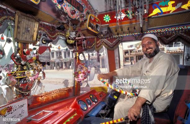 Pakistan, Peshawar, Bus driver