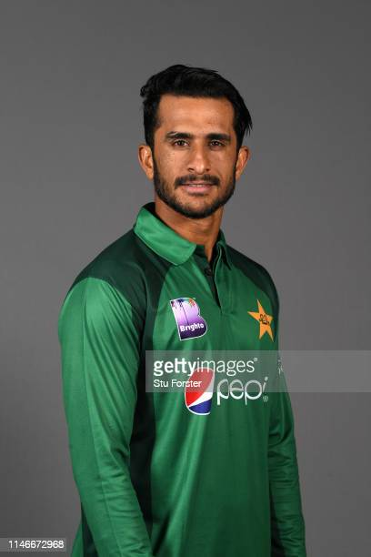 Pakistan player Hasan Ali pictured during a Pakistan Cricket head shot session at Sophia Gardens on May 03 2019 in Cardiff Wales