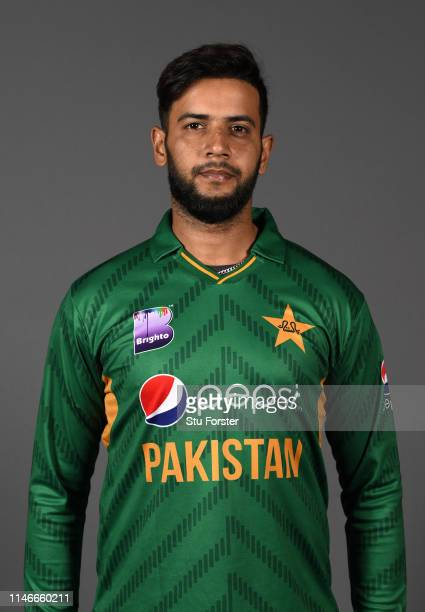 Pakistan player Imad Wasim pictured during a Pakistan Cricket head shot session at Sophia Gardens on May 03 2019 in Cardiff Wales