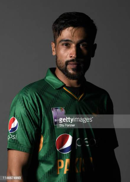 Pakistan player Mohammad Amir pictured during a Pakistan Cricket head shot session at Sophia Gardens on May 03, 2019 in Cardiff, Wales.
