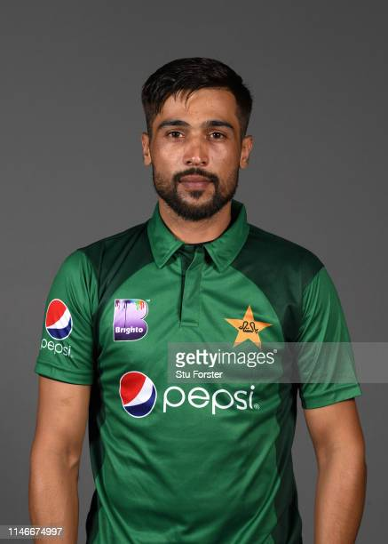 Pakistan player Mohammad Amir pictured during a Pakistan Cricket head shot session at Sophia Gardens on May 03 2019 in Cardiff Wales