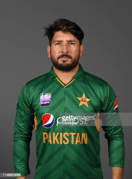 Pakistan player Yasir Shah pictured during a Pakistan Cricket head shot session at Sophia Gardens on May 03 2019 in Cardiff Wales