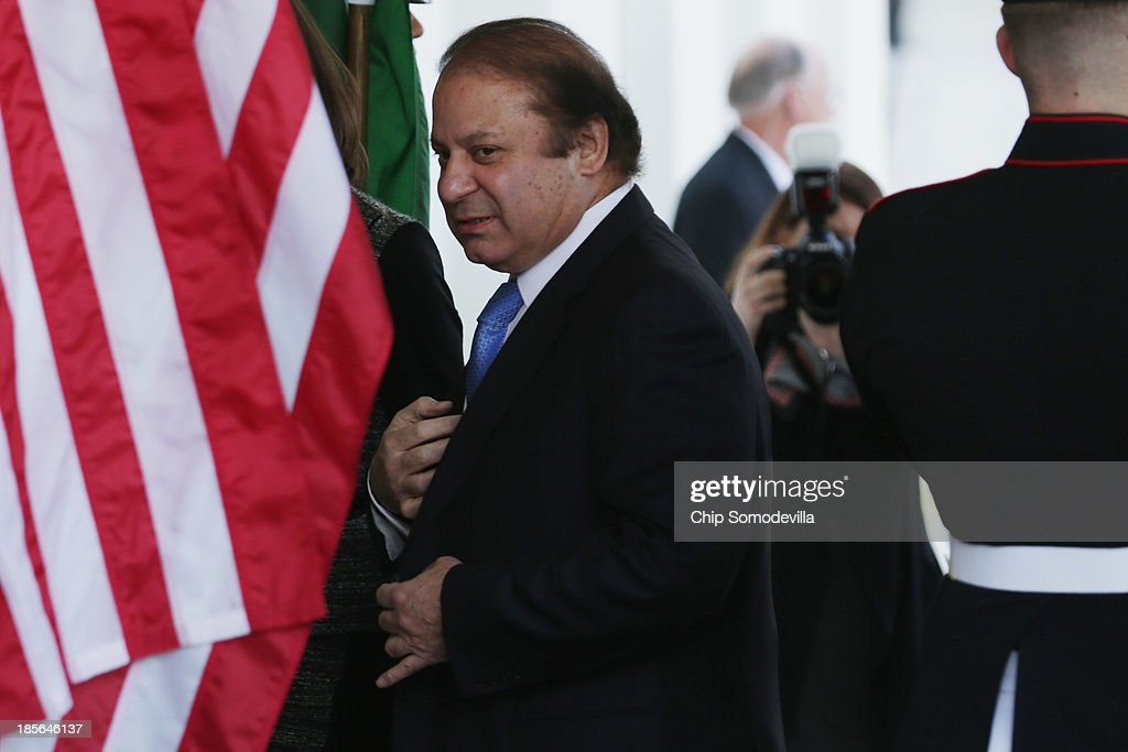 President Obama Meets With Pakistani PM Nawaz Sharif At The White House