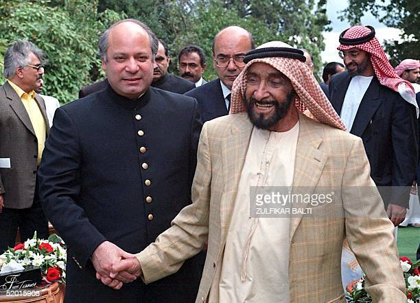 Pakistan Prime Minister Nawaz Sharif meets President of UAE Shaikh Zayed Bin Sultan Al Nahayan during a short private visit to the UNited Kingdom 10...