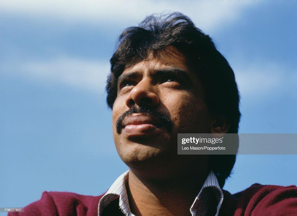 Pakistan professional squash player and former World Champion, Jahangir Khan pictured circa 1990.