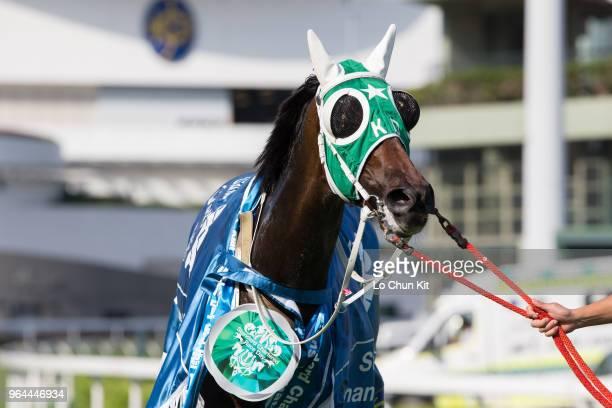 KONG MAY Pakistan Star wins Race 8 Standard Chartered Champions Chater Cup at Sha Tin racecourse on May 27 2018 in Hong Kong
