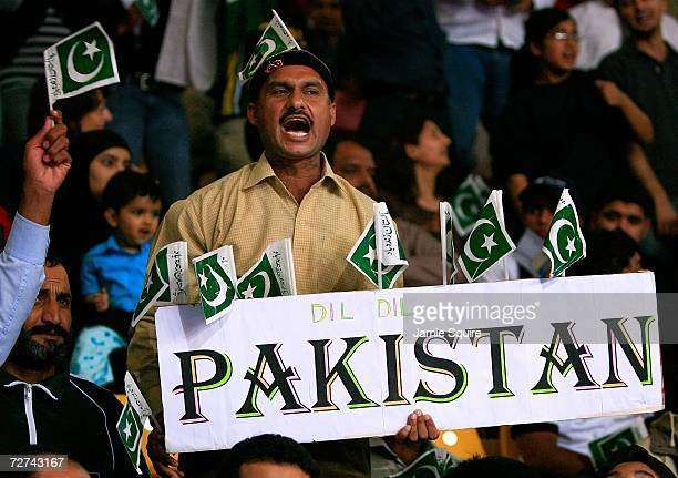 A pakistan supporter screams during the Men's Kabaddi Gold Medal match between India and Pakistan at the 15th Asian Games Doha 2006 at Aspire Hall on...