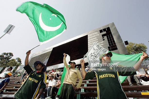 Pakistan supporters during the ICC Twenty20 Cricket World Cup match between Australia and Pakistan held at the Wanderers Cricket Stadium on September...