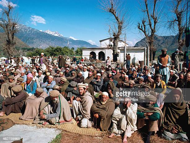 Pakistan Waziristan Tribal area Muslim prayers outdoors