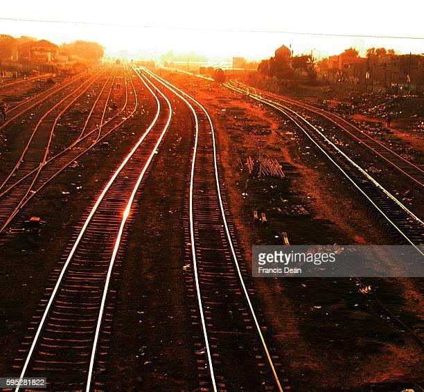 PAKISTAN_KARACHI_pakistan railway track shining in karachi.on nov 2011{ PHOTO BY ILAS J.DEAN/PAK IMAGES}