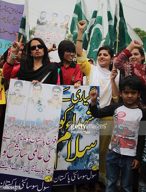 Pakistani Activists of civil society rally to support Pakistan's army in Lahore Pakistan Pakistani army filed a complaint against the countrys...
