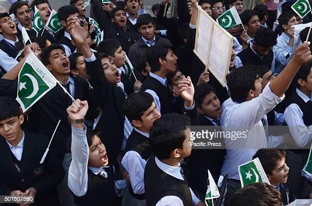 Pakistani activists of religious group Tehreek SirateMustaqeem Pakistan and Supporters of Mumtaz Hussain Qadri chant slogans against the execution...
