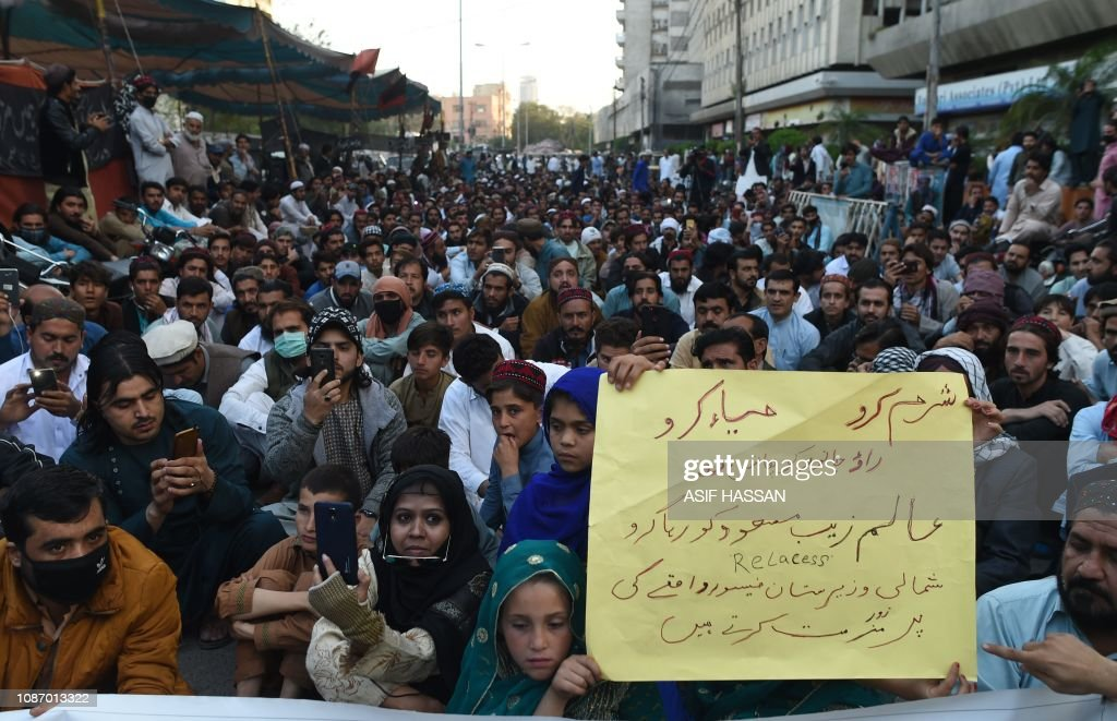 PAKISTAN-PTM-PROTEST : News Photo