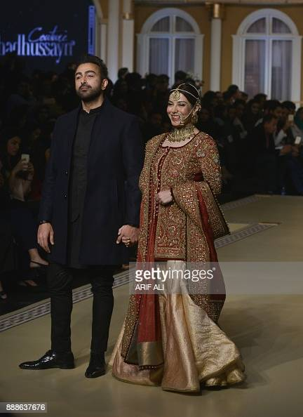 Pakistani Actor Shan And Actress Uzma Hassan Present A Creation By News Photo Getty Images