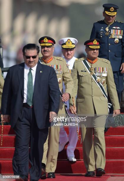 Pakistani Army Chief General Qamar Javed Bajwa Pakistani Chief of Naval Staff Admiral Zafar Mahmood Abbasi Pakistani Air Chief Marshal Mujahid Anwar...