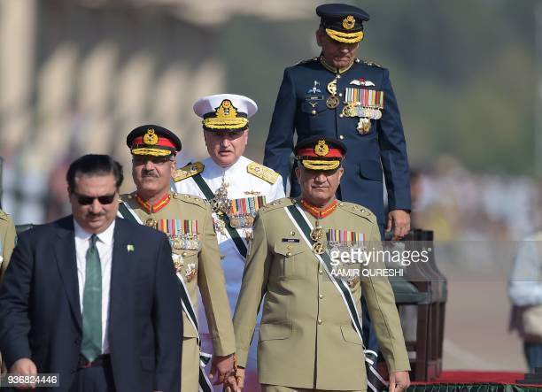 Pakistani Army Chief General Qamar Javed Bajwa Pakistani Chief of Naval Staff Admiral Zafar Mahmood Abbasi Pakistani Air Chief Marshal Mujahid Anwar...