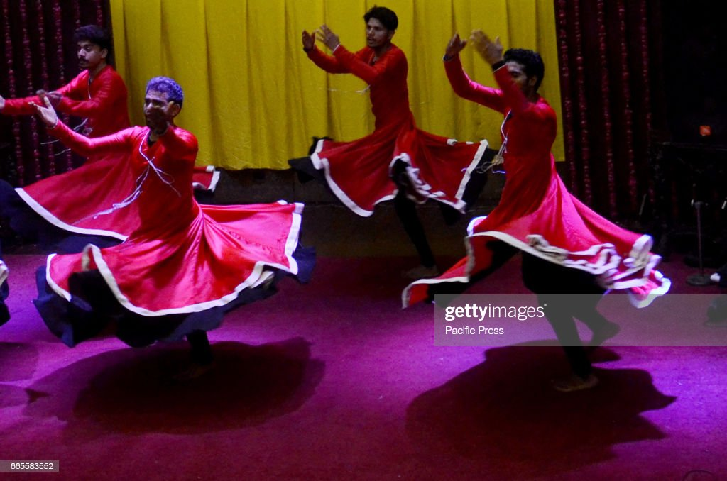 Pakistani artist perform a Sufi Dance during Culture and Sufi Dance MELA CHIRAGAN in Lahore A tribute to legendary Muslim Sufi saint Shah Hussain...