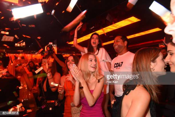 Pakistani businessman Javed Fiyaz and his guests attend the VIP Room Party As part of SaintTropez Party On French RivieraÊ on July 29 2017 in...