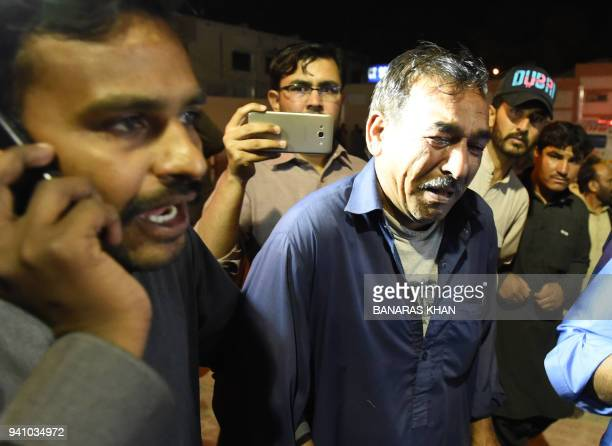 A Pakistani Christian resident mourns the killing of relatives following an attack by gunmen at a hospital in Quetta on April 2 2018 Four Christians...