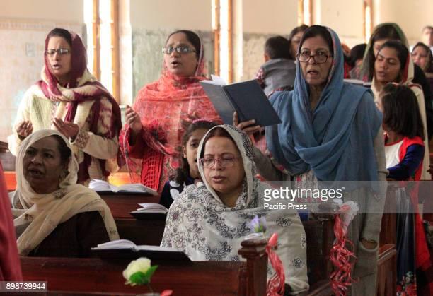 QUETTA BALOCHISTAN PAKISTAN Pakistani Christians Community attend mass during Christmas celebrations at Bethel Memorial Methodist church in Quetta