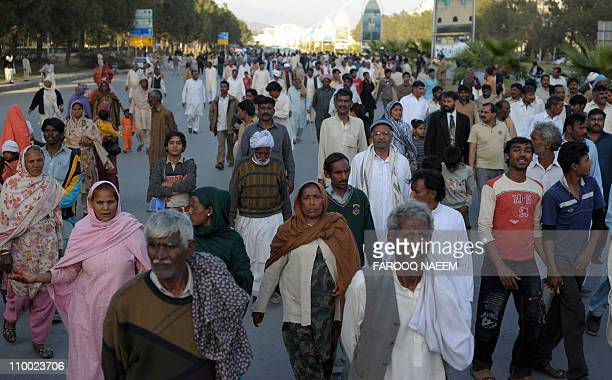 Pakistani Christians march during a rally in Islamabad on March 12 against the killing of Pakistan's Minority affairs minister Shahbaz Bhatti Bhatti...