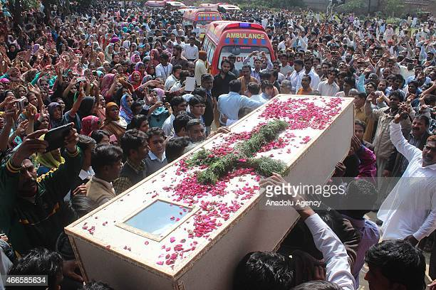 Pakistani Christians mourn during the funeral ceremony of suicide blast victims in LahoreMarch 172015 Twin blasts rocked the Roman Catholic Church...