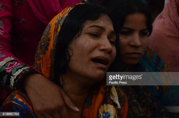 Pakistani Christians mourn during the funeral of the March 27 suicide bombing at Narkali Church Pakistan has detained more than 350 people since the...