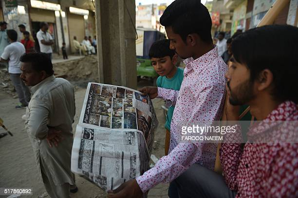 Pakistani Christians read newspapers a day after suicide blast in Lahore on March 28 2016 The worst fears of Pakistan's Christians came true with the...