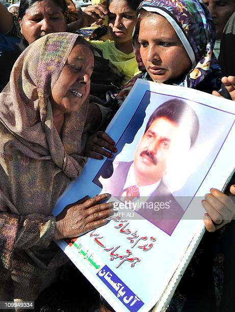 Pakistani Christians stage a protest against the killing of slain Pakistani minister for minorities Shahbaz Bhatti in Lahore on March 11 2011...