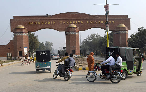 Pakistani commuters enter the Bahauddin Zakariya University in Multan on December 7 where female US shooter Tashfeen Malik studied The woman who with.