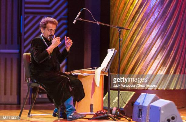 Pakistani conductor and musician Nijat Ali leads the Sachal Jazz Ensemble in a performance during a World Music Institute concert at New York...