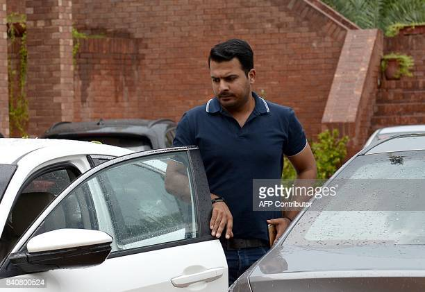 Pakistani cricketer Sharjeel Khan arrives to attend an anticorruption tribunal meeting in Lahore on August 30 2017 Pakistan's anticorruption tribunal...
