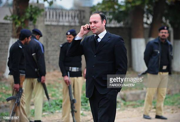 Pakistani defence lawyer for seven suspects accused for plotting Mumbai attacks Shahbaz Rajput comes out from Adiala prison in Rawalpindi on February...