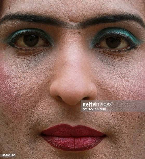 Pakistani Eunuch Sana poses for a picture at her residence in Rawalpindi on January 22 2010 On the bottom rungs of Pakistan's social ladder the...