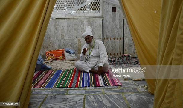 Pakistani Faithful Muslims at Data Darbar and Badshahi Masjid are taking part in Itekaf during the start of last Ashra of Holy Fasting Month of...