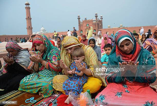 Pakistani faithful Muslims takes a part of Jumma tulVida prayers in Lahore Muslim devotees take part in the last Friday prayers ahead of the Eid...