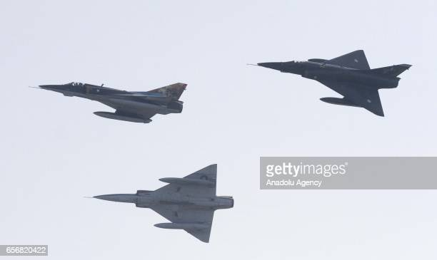Pakistani fighter jet performs during a military parade to mark Pakistan's National Day in Islamabad Pakistan on March 23 2017