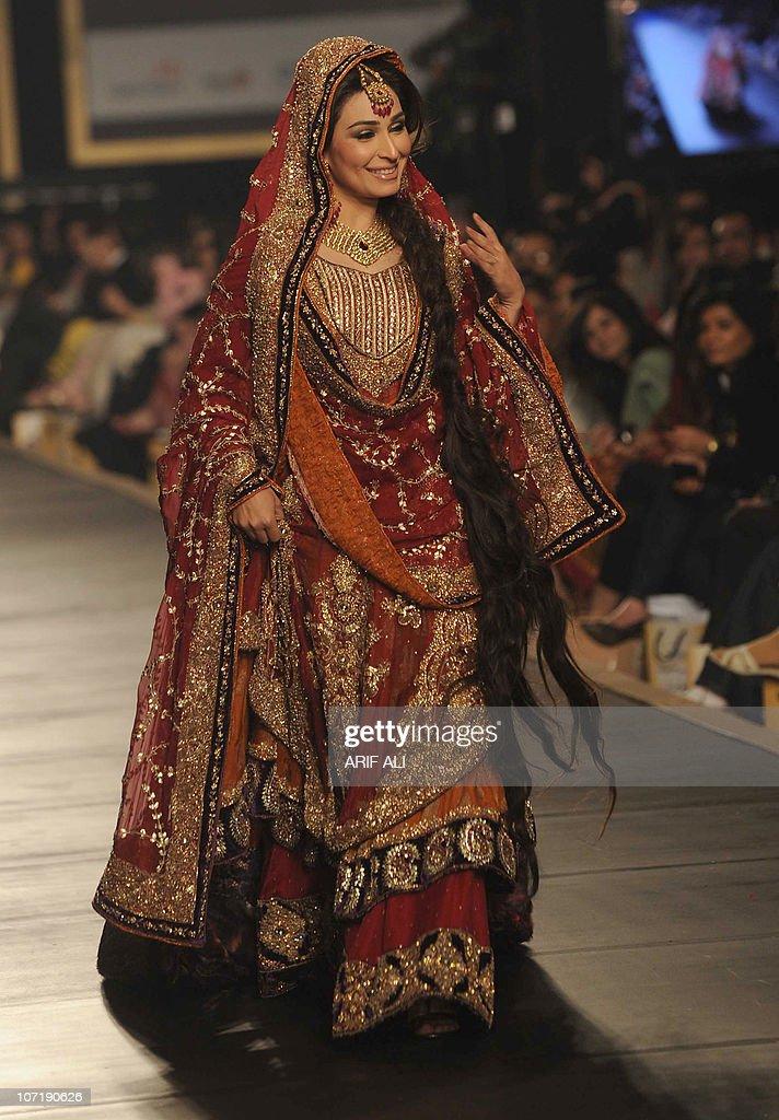 Pakistani Film Actress Reema Walks Wearing A Bridal Dress On The Last Day Of