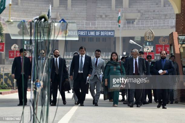 Pakistani Foreign Ministry spokesman Mohammad Faisal returns after a meeting with Indian officials on the third round of IndiaPakistan talks of the...