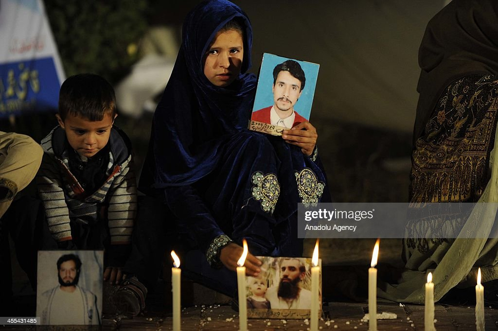 Relatives of Pakistani Missing People Stage Sit-in : News Photo