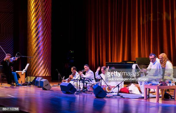Pakistani group the Sachal Jazz Ensemble perform during a World Music Institute concert at New York University's Skirball Canter New York New York...
