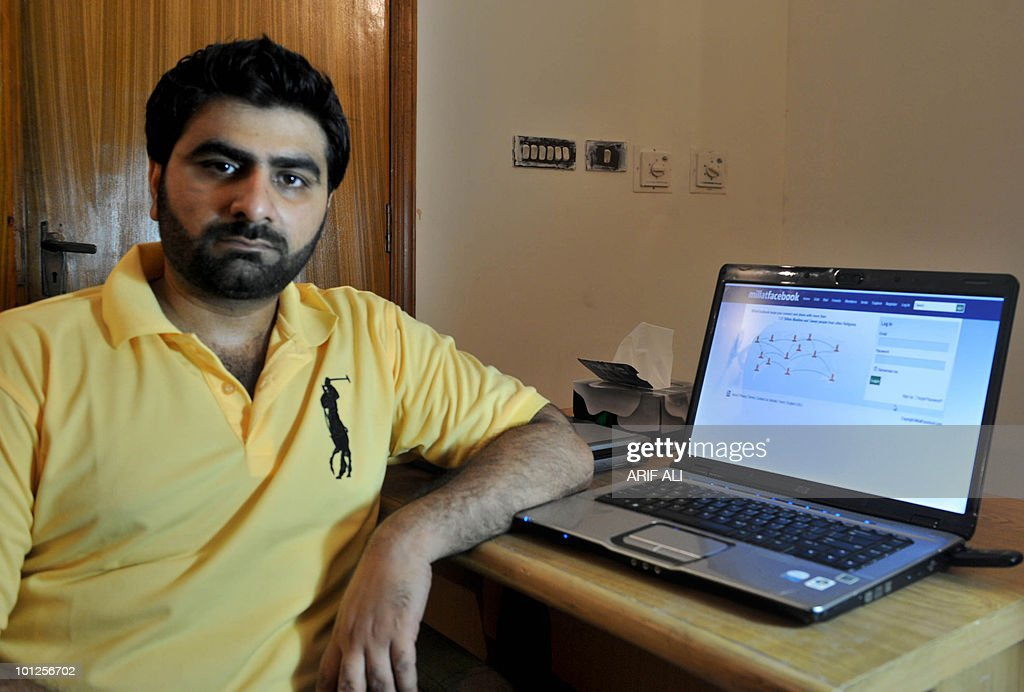Pakistani IT professionals Arslan Chaudhry, co-creator of a new internet networking site, poses for a photo in Lahore on May 27, 2010. A group of six young IT professionals from Lahore, the cultural and entertainment capital of Pakistan, launched www.millatfacebook.com for Muslims to interact online and protest against blasphemy. AFP PHOTO/Arif ALI