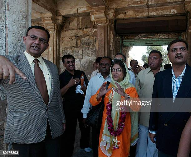 Pakistani lawyer and Chairperson of the Human Rights Commission of Pakistan Asma Jahangir and President of The Sarkhej Roja Committee Abrahamali...
